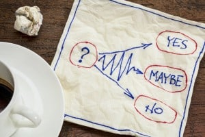 napkin with notes