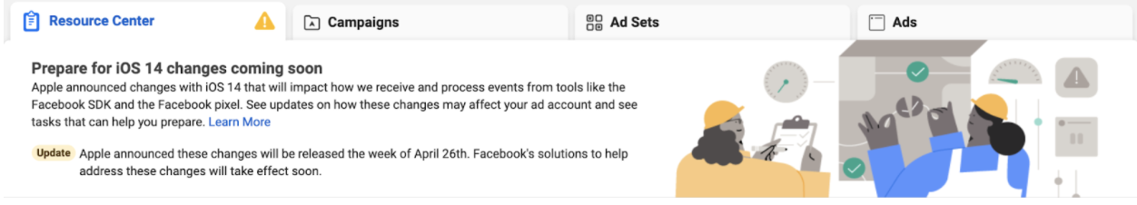 Resource suggestions for Facebook ads caused by Apple iOS 14.5 update